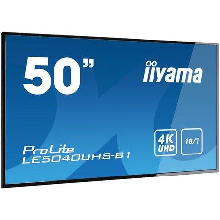 """Iiyama iiyama LE5040UHS-B1 beeldkrant 127 cm (50"""") LED 4K Ultra HD Digitale signage flatscreen Zwart"""
