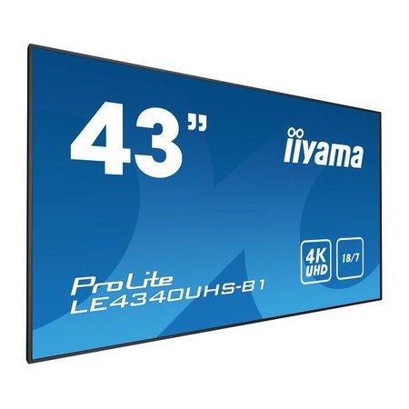 """Iiyama iiyama LE4340UHS-B1 beeldkrant 108 cm (42.5"""") LED 4K Ultra HD Zwart Android"""