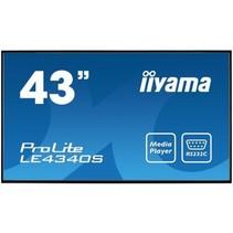"iiyama ProLite LE4340S-B1 109,2 cm (43"") LED Full HD Digitale signage flatscreen Zwart"