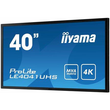 """Iiyama iiyama LE4041UHS-B1 beeldkrant 100,3 cm (39.5"""") LED 4K Ultra HD Digital signage flat panel Zwart"""