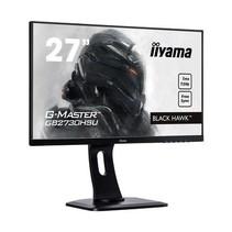 27i WIDE LCD. G-Master Black Hawk. 1920x 1080. TN panel. USB-Hub (2xOut). FreeSync. Pivot. Height Adjust. 300 cd/m*2. 12.000.000:1 ACR. DP. HDMI . VGA. 1ms.