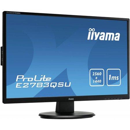 "Iiyama iiyama ProLite E2783QSU-B1 computer monitor 68,6 cm (27"") Wide Quad HD LED Flat Zwart"
