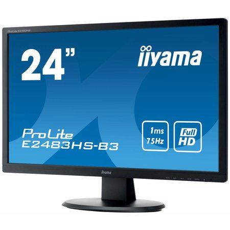 "Iiyama iiyama ProLite E2483HS-B3 LED display 61 cm (24"") Full HD Flat Mat Zwart"