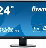 "Iiyama iiyama ProLite E2482HS-B1 computer monitor 61 cm (24"") Full HD LED Flat Mat Zwart"
