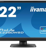 "Iiyama iiyama ProLite E2280WSD-B1 LED display 55,9 cm (22"") Mat Zwart"