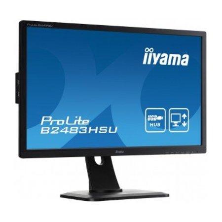"Iiyama iiyama ProLite B2483HSU-B1DP LED display 61 cm (24"") Full HD Flat Mat Zwart"