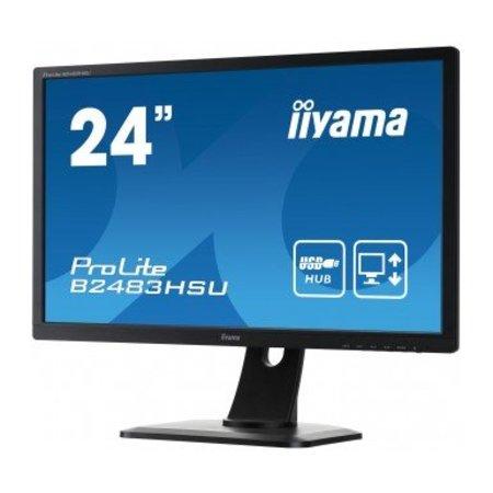 "Iiyama iiyama ProLite B2483HSU-B1DP LED display 61 cm (24"") 1920 x 1080 Pixels Full HD Zwart"
