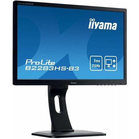 "Iiyama iiyama ProLite B2283HS-B3 LED display 54,6 cm (21.5"") 1920 x 1080 Pixels Full HD Zwart"