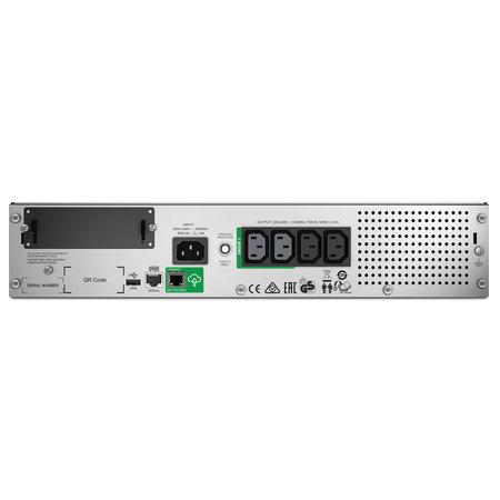 APC APC Smart-UPS SMT750RMI2UC - Noodstroomvoeding 4x C13, USB, rack mountable, SmartConnect, 750VA