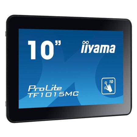 "Iiyama iiyama TF1015MC-B2 touch screen-monitor 25,6 cm (10.1"") 1280 x 800 Pixels Zwart Multi-touch"