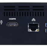Gigabyte Gigabyte GB-BACE-3160 PC/workstation barebone J3160 1,6 GHz 0,69L maat pc Zwart