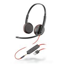 Plantronics Headset zwartwire C3225 binaural USB + 3.5mm