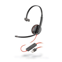 Plantronics Headset zwartwire C3210 monaural USB