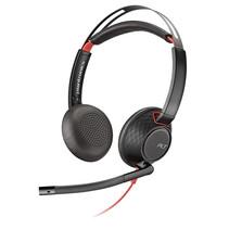 Plantronics Headset zwartwire C5220 binaural USB + 3.5mm