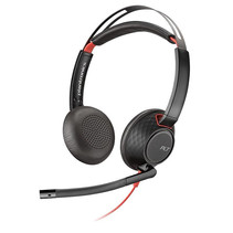 POLY Blackwire 5220 Headset Hoofdband Zwart, Rood