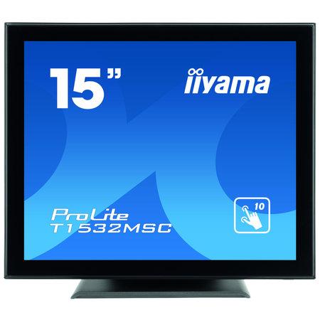 "Iiyama iiyama ProLite T1532MSC-B5AG touch screen-monitor 38,1 cm (15"") 1024 x 768 Pixels Zwart"