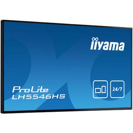 """Iiyama iiyama LH5546HS-B1 beeldkrant 138,7 cm (54.6"""") LED Full HD Digitale signage flatscreen Zwart"""
