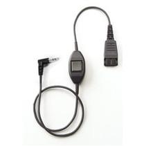 QD-2,5mm jack PTT (straight)