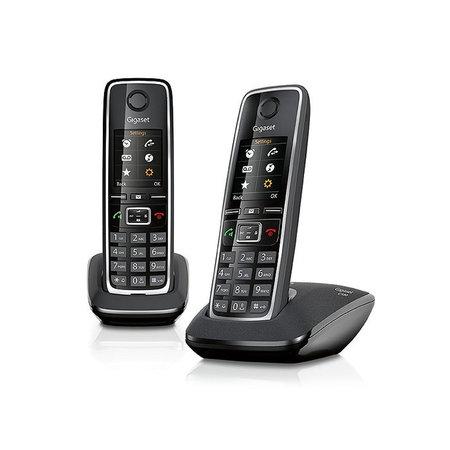 GIGASET Gigaset C530 Duo DECT-telefoon Zwart, Zilver Nummerherkenning