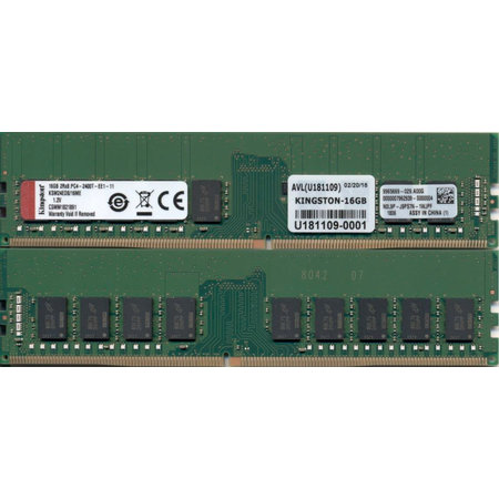 Kingston Kingston Technology KSM24ED8/16ME geheugenmodule 16 GB DDR4 2400 MHz ECC
