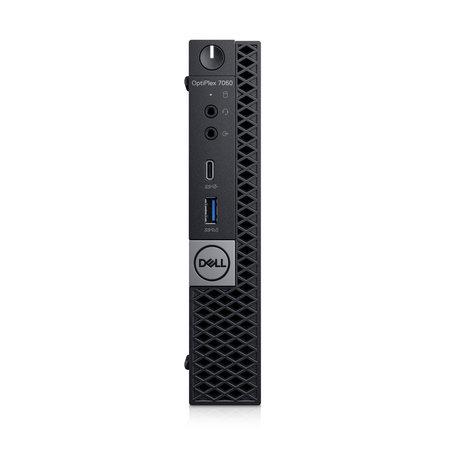 Dell DELL OptiPlex 7060 Intel® 8ste generatie Core™ i7 i7-8700T 8 GB DDR4-SDRAM 256 GB SSD Zwart USFF Mini PC