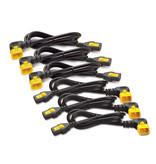 APC APC C13 - C14 (90 Deg), 1.8m, 6-pack electriciteitssnoer Black,Yellow 1,83 m C13 stekker C14 stekker