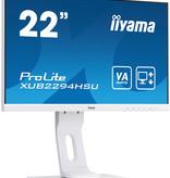"Iiyama iiyama ProLite XUB2294HSU-W1 LED display 54,6 cm (21.5"") 1920 x 1080 Pixels Full HD Zwart, Wit"