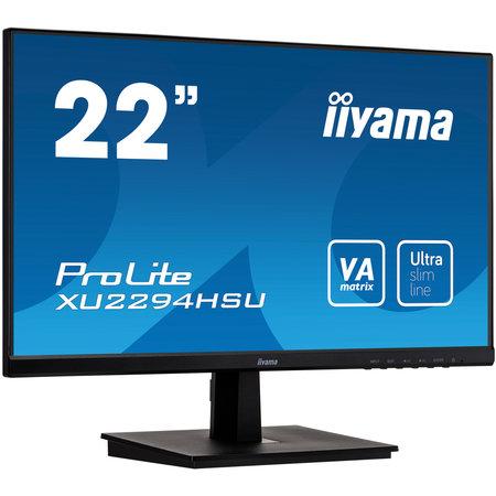 "Iiyama iiyama ProLite XU2294HSU-B1 LED display 54,6 cm (21.5"") 1920 x 1080 Pixels Full HD Zwart"