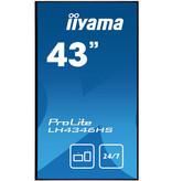 """Iiyama iiyama LH4346HS-B1 beeldkrant 108 cm (42.5"""") LED Full HD Digitale signage flatscreen Zwart Android"""
