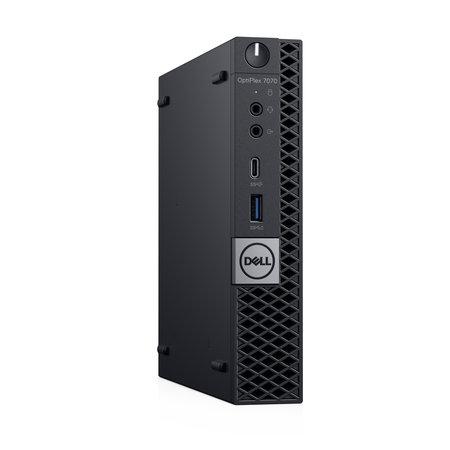 Dell DELL OptiPlex 7070 Intel® 9de generatie Core™ i5 i5-9500T 8 GB DDR4-SDRAM 256 GB SSD MFF Zwart Mini PC Windows 10 Pro