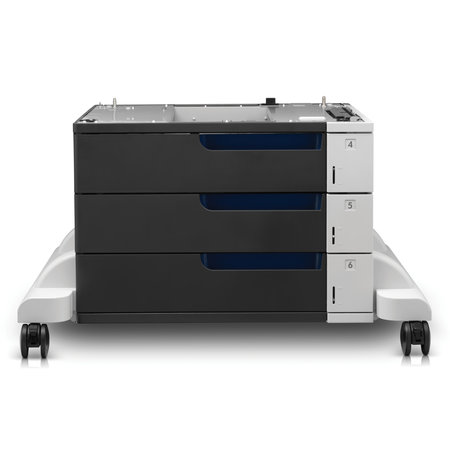 Hewlett & Packard INC. HP LaserJet Color papierinvoer en standaard voor 3 x 500 vel