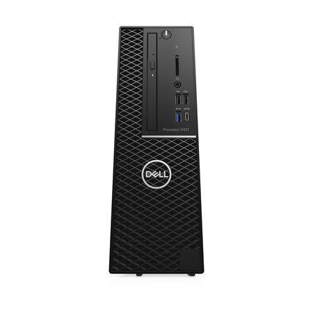 Dell DELL Precision 3431 Intel® 9de generatie Core™ i7 i7-9700 16 GB DDR4-SDRAM 512 GB SSD SFF Zwart Workstation Windows 10 Pro