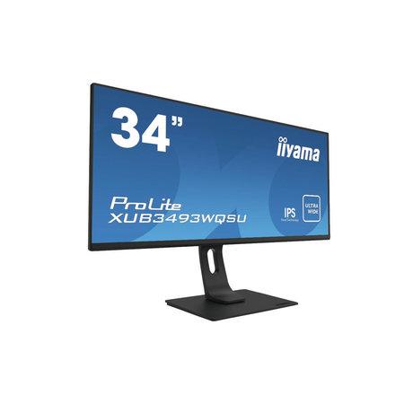 "Iiyama iiyama ProLite XUB3493WQSU-B1 computer monitor 86,4 cm (34"") 3440 x 1440 Pixels UltraWide Quad HD LED Zwart"