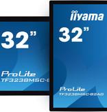 """Iiyama iiyama TF3238MSC-B2AG beeldkrant 80 cm (31.5"""") LED Full HD Touchscreen Interactief flatscreen Zwart"""