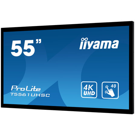 """Iiyama iiyama T5561UHSC-B1 beeldkrant 139,7 cm (55"""") LED Full HD Touchscreen Interactief flatscreen Zwart"""