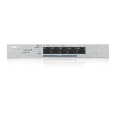 Zyxel Zyxel GS1200-5HP v2 Managed Gigabit Ethernet (10/100/1000) Grijs Power over Ethernet (PoE)