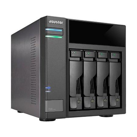 "Asustor Asustor AS6004U 2.5/3.5"" HDD-/SSD-behuizing Zwart"