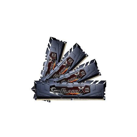 G.Skill G.Skill Flare X (for AMD) F4-3200C16Q-64GFX geheugenmodule 64 GB 4 x 16 GB DDR4 3200 MHz