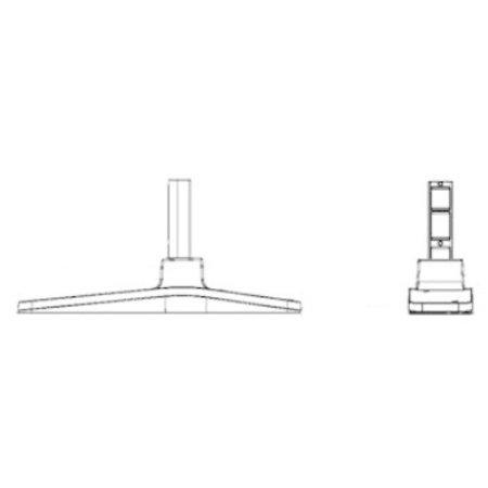 """Samsung Displays Samsung STN-L32D TABLE STAND 32-40IN 81,3 cm (32"""") Vaste flatscreen vloerstandaard Zwart"""