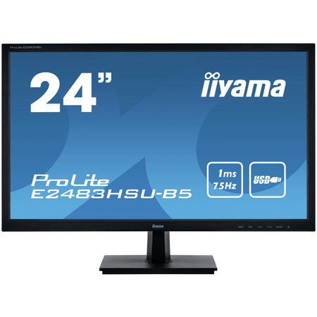 "Iiyama iiyama ProLite E2483HSU-B5 computer monitor 61 cm (24"") 1920 x 1080 Pixels Full HD LED Zwart"