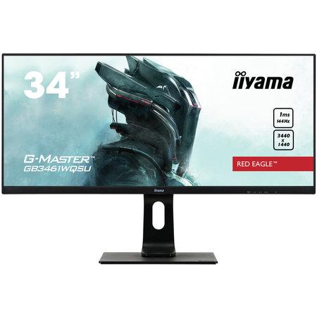 """Iiyama iiyama G-MASTER GB3461WQSU-B1 computer monitor 86,4 cm (34"""") 3440 x 1440 Pixels UWQHD LED Zwart"""