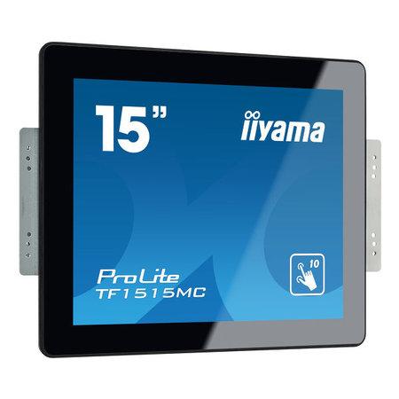 """Iiyama iiyama ProLite TF1515MC-B2 touch screen-monitor 38,1 cm (15"""") 1024 x 768 Pixels Zwart Multi-touch"""