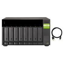"""QNAP TL-D800C behuizing voor opslagstations 2.5/3.5"""" HDD-/SSD-behuizing Zwart, Grijs"""