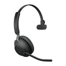Jabra Evolve2 65, MS Mono Headset Hoofdband Zwart