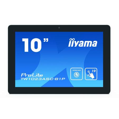 "Iiyama iiyama ProLite TW1023ASC-B1P touch screen-monitor 25,6 cm (10.1"") 1280 x 800 Pixels Zwart Multi-touch Multi-gebruiker"