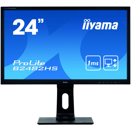 "Iiyama iiyama ProLite B2482HS-B5 computer monitor 61 cm (24"") 1920 x 1080 Pixels Full HD LED Zwart"
