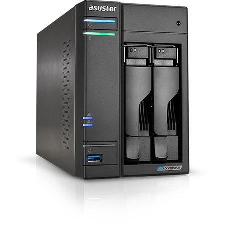 Asustor Asustor AS6602T data-opslag-server J4125 Ethernet LAN Tower Zwart NAS