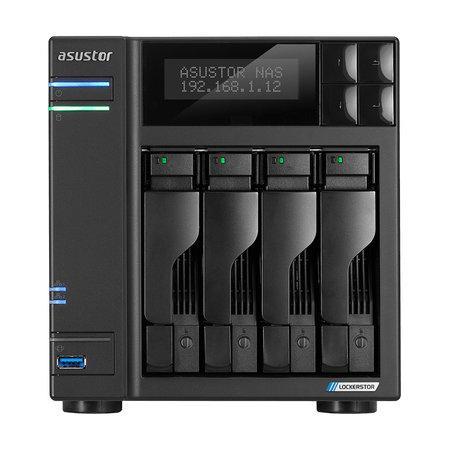 Asustor Asustor AS6604T data-opslag-server J4125 Ethernet LAN Zwart NAS