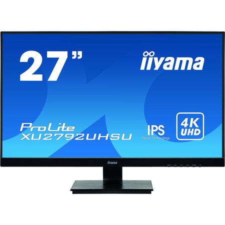 "Iiyama iiyama ProLite XU2792UHSU-B1 LED display 68,6 cm (27"") 3840 x 2160 Pixels 4K Ultra HD Zwart"