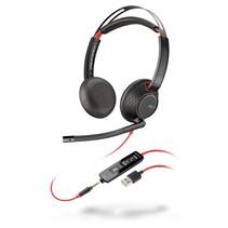 POLY Blackwire C5220 Headset Hoofdband Zwart, Rood